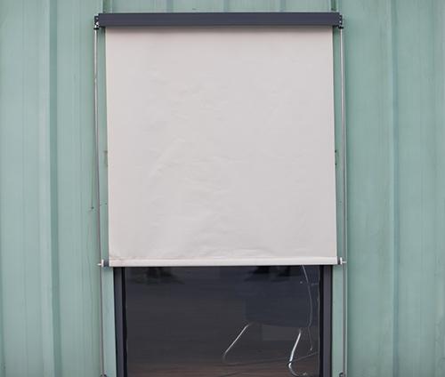 钢丝导向式织物外遮阳卷帘